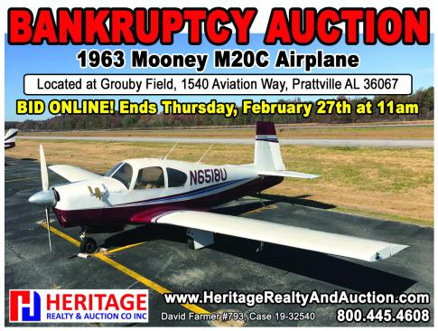 Aircraft for Auction in Prattville, Alabama, United States (1A9): 1963 Mooney M20C